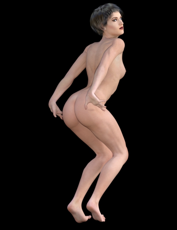 Model backdrops Nude